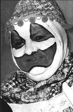 "(Serial Killer) John Wayne Gacy dressed as his alter ego ""Pogo The Clown"""