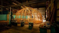 Bamboo experts Vélez and Simic, who together lead the studio Gigagrass, used their expertise to design a structure with a domed shaped and projecting roof canopy. Bamboo Architecture, Amazing Architecture, Places Around The World, Around The Worlds, Bamboo Structure, Art Village, Desert Art, Venice Biennale, Pavilion