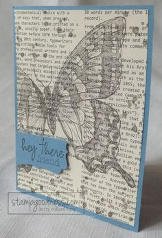 Swallowtail on First Edition Designer Series Paper
