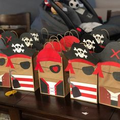 Pirate Favor Bags/ Pirate Party Bags/ Pirates Party Supplies/ Pirates Birthday Theme/ Pirate Birthday invitations/ Pirate Candy Treat Bags - Source by Birthday Party Goodie Bags, Mickey Mouse Party Favors, Pirate Birthday Cake, Pirate Birthday Invitations, Party Favor Bags, Boy Birthday Parties, Mermaid Birthday, Gift Bags, Pirate Cupcake