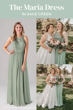 Maria is a fun, convertible, boho chic bridesmaid gown that is perfect for your unique bridal party! Flowy and versatile, this dress is flattering on a variety of figures. The 'Sage Green' color is perfect for all wedding seasons. Find this bridesmaid dress, available in 44 colors & sizes 00-32 only on Kennedy Blue!   sage green bridesmaid dresses   summer wedding inspiration   outdoor wedding inspo   flower bouquet inspo   2021 wedding parties   wedding party photography   bride and bestie Summer Bridesmaid Dresses, Affordable Bridesmaid Dresses, Wedding Dresses, Wedding Parties, Summer Wedding, Wedding Inspiration, Wedding Ideas, Party Photography, Party Looks
