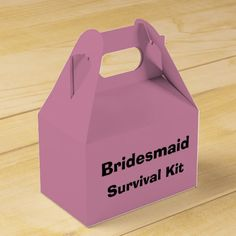 """Ready to fill with """"survival supplies""""! Makes a fun gift! Different colors and fonts available."""