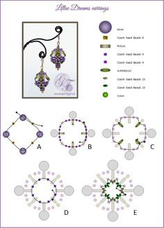 LILLAC DREAMS Earrings - FREE Pattern by MoonPerl. Page 2 of 3