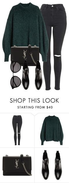 """Untitled #7095"" by laurenmboot ❤ liked on Polyvore featuring Topshop and Yves Saint Laurent"