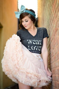 wear Love™  put it on. wear it out.  oh Ya! http://rebeccareadphotography.com
