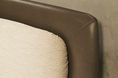 Fimes, Salone del Mobile 2017, Milano .Sober and elegant style for Yugen bed of Fimes.  #bed #nightstand #bedroom #closet #slidingdoors #leafdoors #interiordesign #design #modern #contemporary #madeinitaly #salonedelmobile #fieradelmobile #isaloni #fieramilano #luxury #glamour #artdeco #fimes #dresser #tvunit #sofa #mirror #silver #gold #leather #glossy  #bookcase #walkingcloset #cornerbed #coplanar #leather #ilsalonedelmobile2017 #milanodesignweek2017 #casadecor2017
