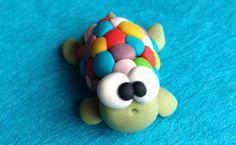Turtle Little Polymer Clay Creation by bdbworld on di bdbworld, $6,00