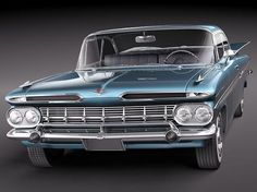 1959 Impala My Dad had one. Black, 3 speed on the column, 6 cyl, 2 door. I will never forget learning to drive in his Chevy.
