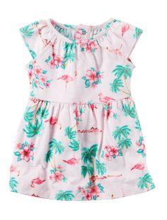 Carter's flamingo jersey dress