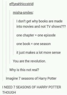 I NEED THIS BUT I COULD NOT WAIT A YEAR OR MORE BETWEEN EACH SEASON ON NETFLIX OKAY?!  but gimme the Marauders and I'd wait forever.