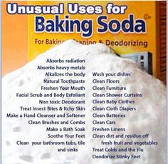 Baking Soda, or Sodium Bicarbonate, is a staple in homes for baking and cleaning purposes. Are you taking full advantage of all that baking soda has to offer? Baking Soda is a natural chemical compound. Household Cleaning Tips, Cleaning Recipes, House Cleaning Tips, Cleaning Hacks, Cleaning Solutions, Cleaning Agent, Cleaning Supplies, Household Products, Household Cleaners
