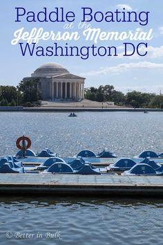 Tidal Basin Paddle Boats at the Jefferson Memorial in Washington DC - fun family travel idea!