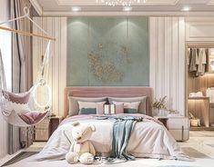 Rich Girl Bedroom, Luxury Kids Bedroom, Luxury Bedroom Design, Modern Master Bedroom, Girl Bedroom Designs, Room Ideas Bedroom, Girl Room, Girls Bedroom, Bedroom Decor