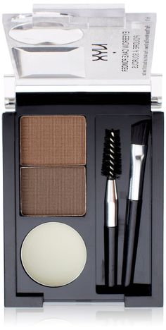 Amazon.com : NYX Eyebrow Cake Powder, Dark Brown/Brown : Eyebrow Makeup : Beauty