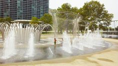 Scioto Mile Fountains by Experience Columbus, via Flickr