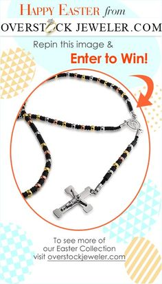 REPIN TO WIN! Repin this awesome rosary necklace and you could win it! Make sure to follow us for contests, giveaways and beautiful jewelry pics. #contest #giveaway #sweepstakes