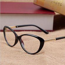 4ab25701c4b1e 2016 Nova Marca Mulheres Vidros Ópticos Quadro CatEye Óculos Anti-radiação  Anti-fadiga Óculos