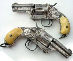 Merwin Hulbert 1st model pocket army revolvers with skullcrusher butt 44 cal. 1870's Guns of the Old West