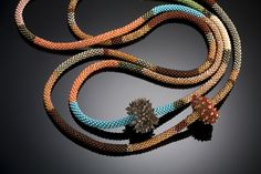 Shelley Jones Jewelry - 2 Crochet Ropes with Felt Beads