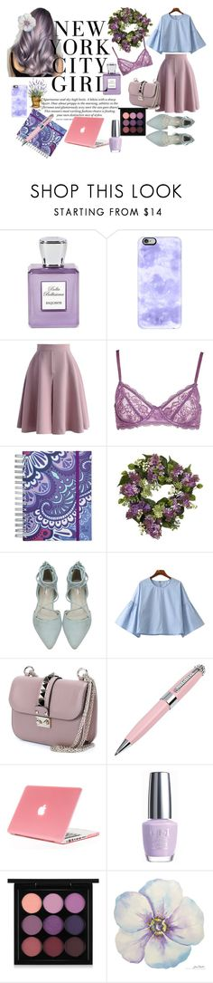 """""""Lilac"""" by kat-van-d ❤ liked on Polyvore featuring Bella Bellissima, Casetify, Chicwish, Morgan Lane, Vera Bradley, Nearly Natural, Chicnova Fashion, Valentino, ICE London and OPI"""