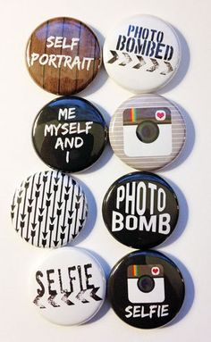 Photo Bombed/Selfie Flair by aflairforbuttons on Etsy, $6.00