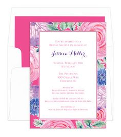 Vintage Floral Border Invitations