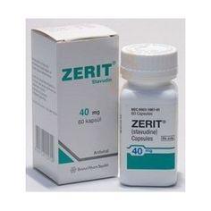 NOM: Zerit 40 mg cápsulas duras P.A: estavudina  INDICACIONS: Zerit està indicat en combinació amb altres medicaments antirretrovirales per el tractament de pacients adults i pacients pediàtrics infectats pel VIH