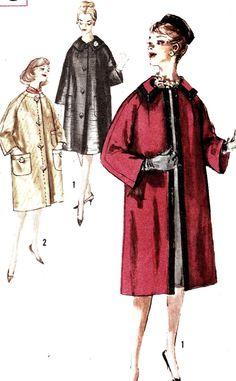 Vintage 1950s Misses Coat Size 10 Simplicity 3620 Sewing Pattern 50s. $10.00, via Etsy.