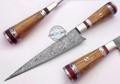 "11.25"" Custom Made Beautiful Damascus steel chef kitchen Knife (AA-0343-3) #KnifeArtist"