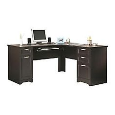 Realspace Magellan Collection L Shaped Desk Espresso by Office Depot & OfficeMax