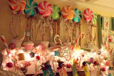 Colorful candycane decor