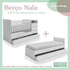 Berço Nala. Berço + cama + cômoda.