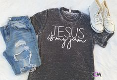 Jesus is My Jam Shirt, Jesus is my Jam, Is My Jam Shirt, Vintage Acid Wash Shirt, Christian Shirt, Love Jesus, Boutique Shirt