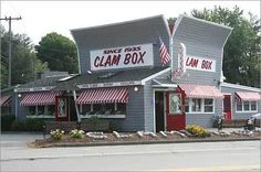 Clam Box restaurant, Carmel by the Sea.  We used to eat here in the 60's and 70's when in the area.  Very good seafood, especially clam chowder.