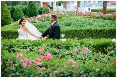 Las Vegas wedding planner, Green Valley Ranch wedding, garden wedding, black red white wedding