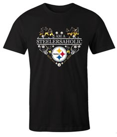 I Am A Steelersaholic Heart Pittsburgh Steelers impressive T Shirt Pittsburgh Steelers, Comfortable Outfits, Direct To Garment Printer, Types Of Shirts, Heart, Mens Tops, T Shirt, Clothes, Cozy Outfits