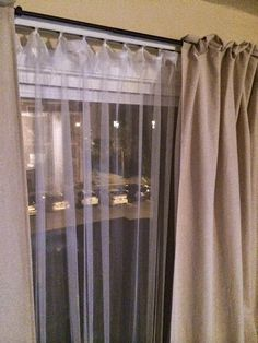 How To Conceal Vertical Blinds With A Curtain Decorate