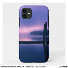 Peace N Serenity-Purple N Pink Sunrise Reflection Case-Mate iPhone Case New Iphone, Apple Iphone, Ipod Touch Cases, Purple Trees, Unique Iphone Cases, Plastic Case, Serenity, Reflection, Sunrise