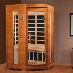 Indoor Infrared Sauna Corner Spa Center For 2 Steam Adjust Bath Heated Far Room #IndoorInfraredSauna