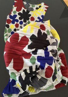 Issey Miyake Pleats Please Colorful Sleeveless Long Dress Size 3 Unique Design | eBay