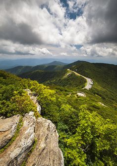 The Craggy Pinnacle view ... incredible 360° views from a 5,892' elevation, overlooking the Craggy Gardens Visitor Center and the Blue Ridge Parkway near AVL | by Dave Allen Photography