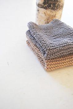simple garter stitch hand towels