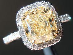 Yellow Diamond | Cushion Cut Diamond | Diamond Ring