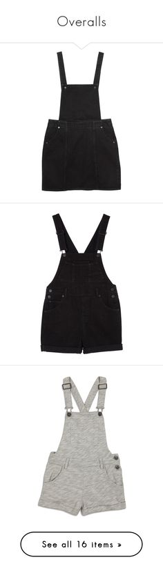 """""""Overalls"""" by midnight-shimmer ❤ liked on Polyvore featuring dresses, skirts, overalls, bottoms, black magic, monki, denim dungaree, jumpsuits, rompers and shorts"""
