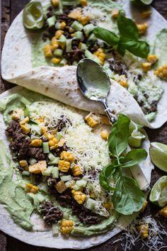 Burrito med kjøttdeig og avokadokrem – Ida Gran-Jansen