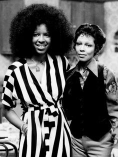 "classicladiesofcolor: "" "" Sisters Natalie and Carole Cole photographed together in 1975. "" According to Wikimedia Commons, both sisters were at NBC's Burbank headquarters for tapings. Natalie was..."