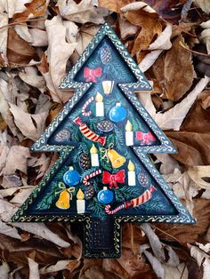 New Year/Christmas Tree Wood by RussianFolkPaintings on Etsy