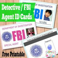 forensics bear elective adventure free printable kids id cards licences itsy - Printable Pictures For Kids
