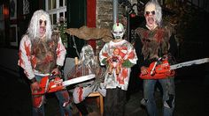 """Happy Halloween"" in Monschau im Oktober 2015."