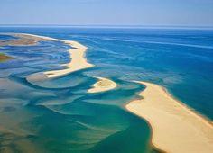 Faro-Barrinha, uma das entradas da Ria Formosa... Divide a Ilha da Barreta/Deserta da Praia de Faro. Algarve - Portgal